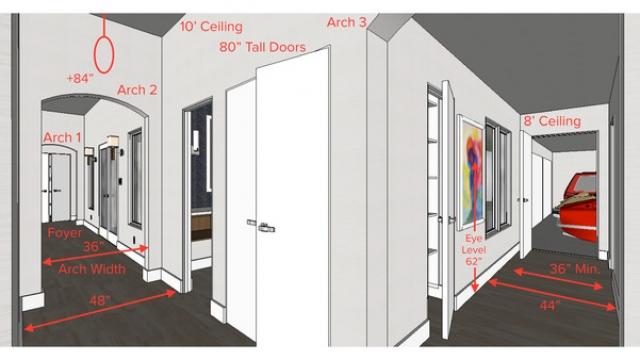Standard vs. Wide Hallway